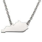 Kentucky State Pendant Necklace with Chain in 14k White Gold MPN: XNA706W-KY UPC: 886774751498