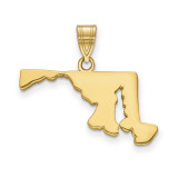 Maryland State Pendant Charm in Gold-plated on Silver MPN: XNA707GP-MD UPC: 886774752525
