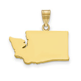 Washington State Pendant Charm in Gold-plated on Silver MPN: XNA707GP-WA UPC: 886774752792