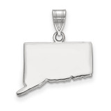 Connecticut State Pendant Charm in Sterling Silver MPN: XNA707SS-CT UPC: 886774752891