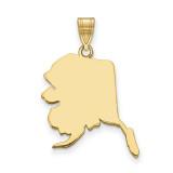 Alaska State Pendant Charm in 14k Yellow Gold MPN: XNA707Y-AK UPC: 886774753836