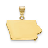 Iowa State Pendant Charm in 14k Yellow Gold MPN: XNA707Y-IA UPC: 886774753942