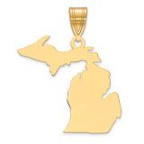 Michigan State Pendant Charm in 14k Yellow Gold MPN: XNA707Y-MI UPC: 886774754048
