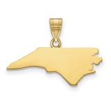 North Carolina State Pendant Charm in 14k Yellow Gold MPN: XNA707Y-NC UPC: 886774754093