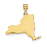New York State Pendant Charm in 14k Yellow Gold MPN: XNA707Y-NY UPC: 886774754161