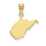 West Virginia State Pendant Charm in 14k Yellow Gold MPN: XNA707Y-WV UPC: 886774754314