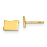 Oregon Small State Earrings in Gold-plated on Silver MPN: XNE50GP-OR UPC: 886774566719