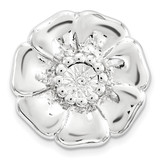 Diamond-cut Flower Chain Slide Sterling Silver Small MPN: QSK1683 UPC: 886774640020 by Stackable Expressions