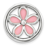 Pink Enameled Flower Chain Slide Sterling Silver Small MPN: QSK1691 UPC: 886774640082 by Stackable Expressions