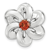 Garnet Flower Chain Slide Sterling Silver Small MPN: QSK1696 UPC: 886774640136 by Stackable Expressions