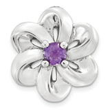 Amethyst Flower Chain Slide Sterling Silver Small MPN: QSK1697 UPC: 886774640143 by Stackable Expressions