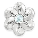 Aquamarine Flower Chain Slide Sterling Silver Small MPN: QSK1698 UPC: 886774640150 by Stackable Expressions