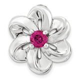 Created Ruby Flower Chain Slide Sterling Silver Small MPN: QSK1702 UPC: 191101550089 by Stackable Expressions