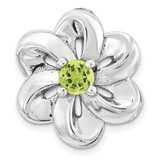 Peridot Flower Chain Slide Sterling Silver Small MPN: QSK1703 UPC: 886774640198 by Stackable Expressions