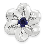 Created SapphireFlower Chain Slide Sterling Silver Small MPN: QSK1704 UPC: 886774640204 by Stackable Expressions