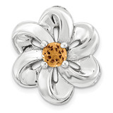 Polished Citrine Flower Chain Slide Sterling Silver Small MPN: QSK1706 UPC: 886774640228 by Stackable Expressions