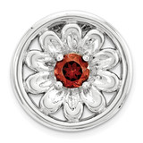 Garnet Flower Chain Slide Sterling Silver Small MPN: QSK1708 UPC: 886774640242 by Stackable Expressions
