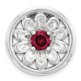 Created Ruby Flower Chain Slide Sterling Silver Small MPN: QSK1714 UPC: 886774640303 by Stackable Expressions