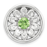 Peridot Flower Chain Slide Sterling Silver Small MPN: QSK1715 UPC: 886774640310 by Stackable Expressions