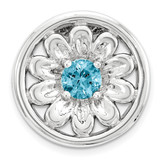 Blue Topaz Flower Chain Slide Sterling Silver Small MPN: QSK1719 UPC: 886774640358 by Stackable Expressions