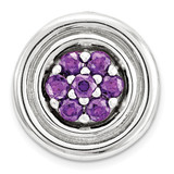 Polished Amethyst Chain Slide Sterling Silver Small MPN: QSK1721 UPC: 886774640372 by Stackable Expressions