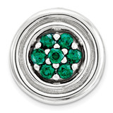 Created Emerald Chain Slide Sterling Silver Small MPN: QSK1724 UPC: 886774640402 by Stackable Expressions