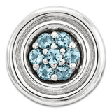 Polished Blue Topaz Chain Slide Sterling Silver Small MPN: QSK1731 UPC: 191101551505 by Stackable Expressions