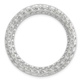 Polished and Textured Chain Slide Sterling Silver Medium MPN: QSK1735 UPC: 886774640471 by Stackable Expressions
