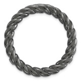 Medium Polished Chain Slide Sterling Silver Black-plated MPN: QSK1736 UPC: 886774640495 by Stackable Expressions