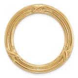 Medium Polished Chain Slide Sterling Silver Gold-tone MPN: QSK1742 UPC: 886774640617 by Stackable Expressions