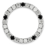 Diamond and Black Sapphire Chain Slide Sterling Silver Medium MPN: QSK1752 UPC: 191101551949 by Stackable Expressions