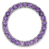 Polished Amethyst Chain Slide Sterling Silver Medium MPN: QSK1754 UPC: 191101549458 by Stackable Expressions