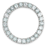 Polished Aquamarine Chain Slide Sterling Silver Medium MPN: QSK1755 UPC: 191101549465 by Stackable Expressions