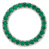 Created Emerald Chain Slide Sterling Silver Medium MPN: QSK1757 UPC: 191101550133 by Stackable Expressions
