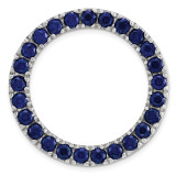 Created Sapphire Chain Slide Sterling Silver Medium MPN: QSK1761 UPC: 191101476594 by Stackable Expressions