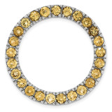 Polished Citrine Chain Slide Sterling Silver Medium MPN: QSK1763 UPC: 191101473432 by Stackable Expressions