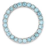 Polished Blue Topaz Chain Slide Sterling Silver Medium MPN: QSK1764 UPC: 191101476617 by Stackable Expressions