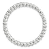Polished and Textured Chain Slide Sterling Silver Large MPN: QSK1772 UPC: 191101552571 by Stackable Expressions