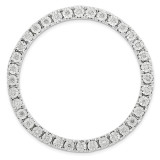 Diamond Chain Slide Sterling Silver Large MPN: QSK1784 UPC: 886774642314 by Stackable Expressions