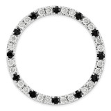 Diamond and Black Sapphire Chain Slide Sterling Silver Large MPN: QSK1785 UPC: 886774642321 by Stackable Expressions