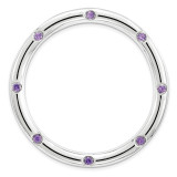 Polished Amethyst Chain Slide Sterling Silver Large MPN: QSK1787 UPC: 886774642345 by Stackable Expressions