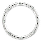 Polished Aquamarine Chain Slide Sterling Silver Large MPN: QSK1788 UPC: 886774642352 by Stackable Expressions