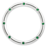 Created Emerald Chain Slide Sterling Silver Large MPN: QSK1790 UPC: 886774642376 by Stackable Expressions