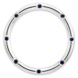 Created Sapphire Chain Slide Sterling Silver Large MPN: QSK1794 UPC: 886774642406 by Stackable Expressions