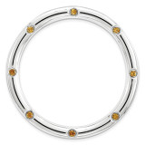 Polished Citrine Chain Slide Sterling Silver Large MPN: QSK1796 UPC: 886774642420 by Stackable Expressions