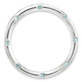 Polished Blue Topaz Chain Slide Sterling Silver Large MPN: QSK1797 UPC: 886774642437 by Stackable Expressions