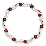 Polished Garnet Chain Slide Sterling Silver Large MPN: QSK1798 UPC: 886774642444 by Stackable Expressions