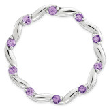 Polished Amethyst Chain Slide Sterling Silver Large MPN: QSK1799 UPC: 886774642451 by Stackable Expressions