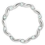 Polished Aquamarine Chain Slide Sterling Silver Large MPN: QSK1800 UPC: 886774642468 by Stackable Expressions