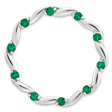 Created Emerald Chain Slide Sterling Silver Large MPN: QSK1802 UPC: 191101551956 by Stackable Expressions